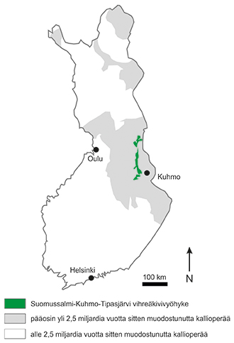 Suomen Vanhimmat Tulivuoriperaiset Kallioalueet Kertovat